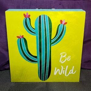 🎈New Be Wild Cactus Wooden Decor